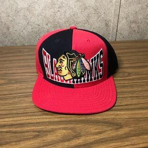 Reebok Men's Hat Blackhawks Faceoff Headwear Red